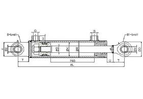 Standard Hydraulikzylinder